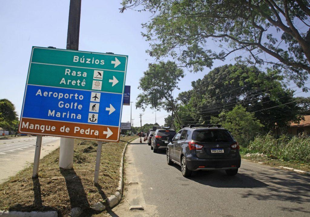 Barreira Sanitária entre Búzios e Cabo Frio. (Foto: Divulgação)