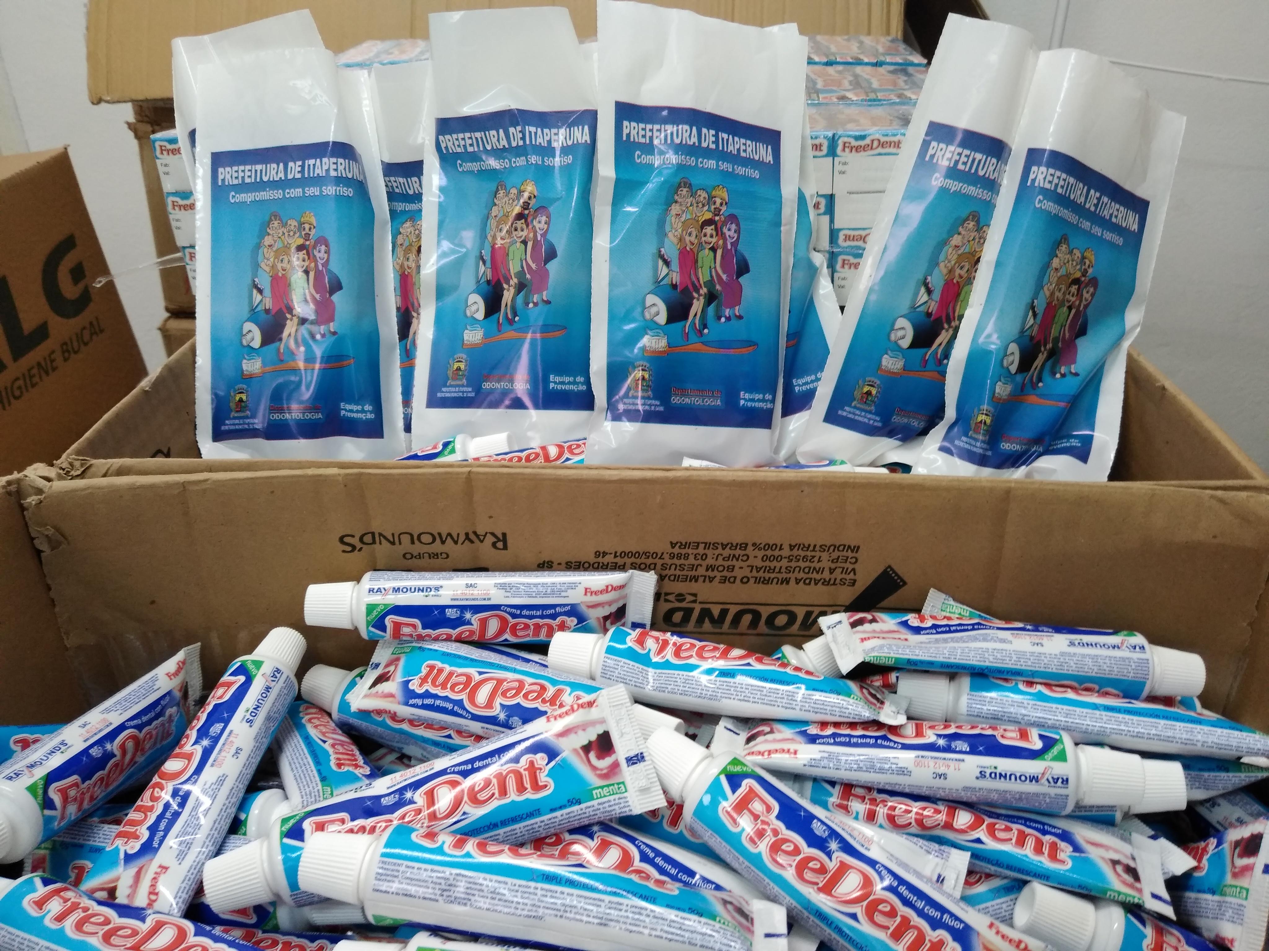 Nesta primeira etapa serão distribuídos 3.000 kits de higiene bucal para alunos da rede municipal. (Foto: Divulgação)